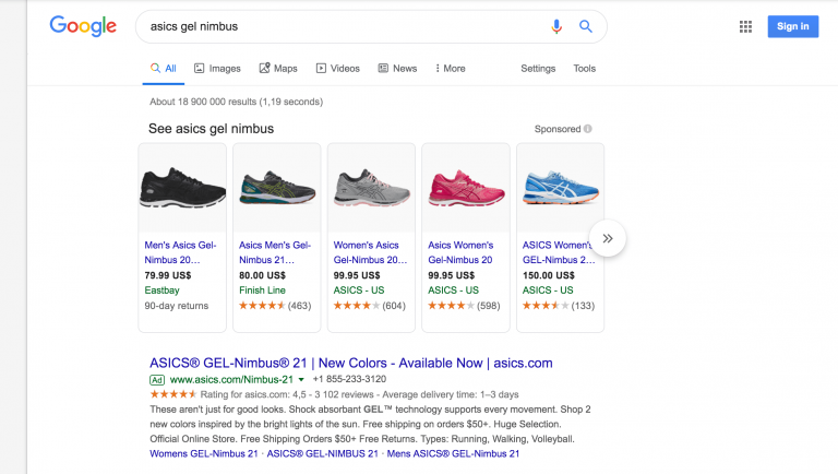 Google Shopping mainonta
